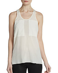 Silk chiffon patch tank medium 26148