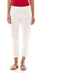 Liz Claiborne Chino Cropped Pants Tall