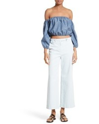 Theory Nadeema Crop Flare Leg Chinos