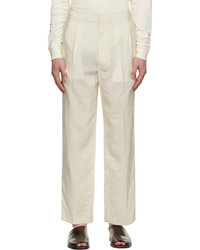 Lemaire Off White 2 Pleats Trousers