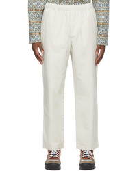 Stussy Off White Brushed Beach Trousers