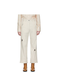 LHomme Rouge Off White Gender Trousers