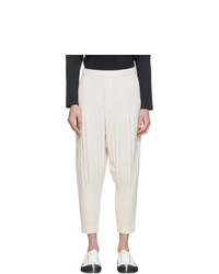 Homme Plissé Issey Miyake Off White Mc July Trousers