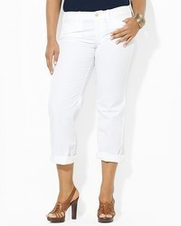 Lauren Ralph Lauren Plus Crop Chino Pants