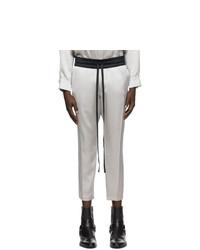 Nahmias Silver Crop Campus Trousers