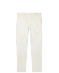 Boglioli Slim Fit Cotton Blend Poplin Trousers