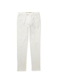 Loro Piana Slim Fit Washed Cotton Blend Trousers