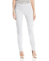 Slim Sation Wide Band Pull On Straight Leg Pant With Tummy Control
