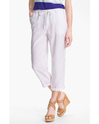 Caslon Slub Linen Crop Pants
