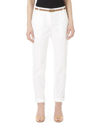 Wallis White Cotton Chino Trousers