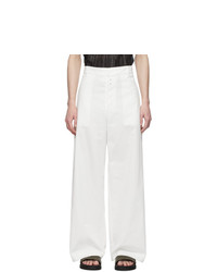 Givenchy White Big Chino Trousers