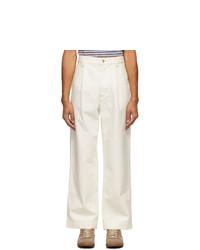 Marni White Canvas Trousers