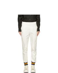Alexander McQueen White Cotton Trousers