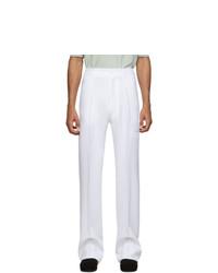 Random Identities White High Rise Five Pocket Trousers