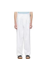 Jacquemus White Le Pantalon Lavandou Trousers