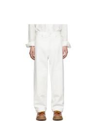 Jacquemus White Le Pantalon Peintre Trousers