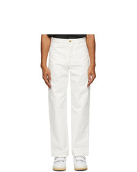 Acne Studios White Twill Straight Leg Chino Trousers