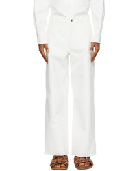 Valentino White Twill Trousers