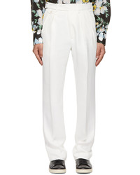 Tom Ford White Viscose Twill Trousers