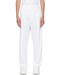 Valentino White Vltn Tag Trousers