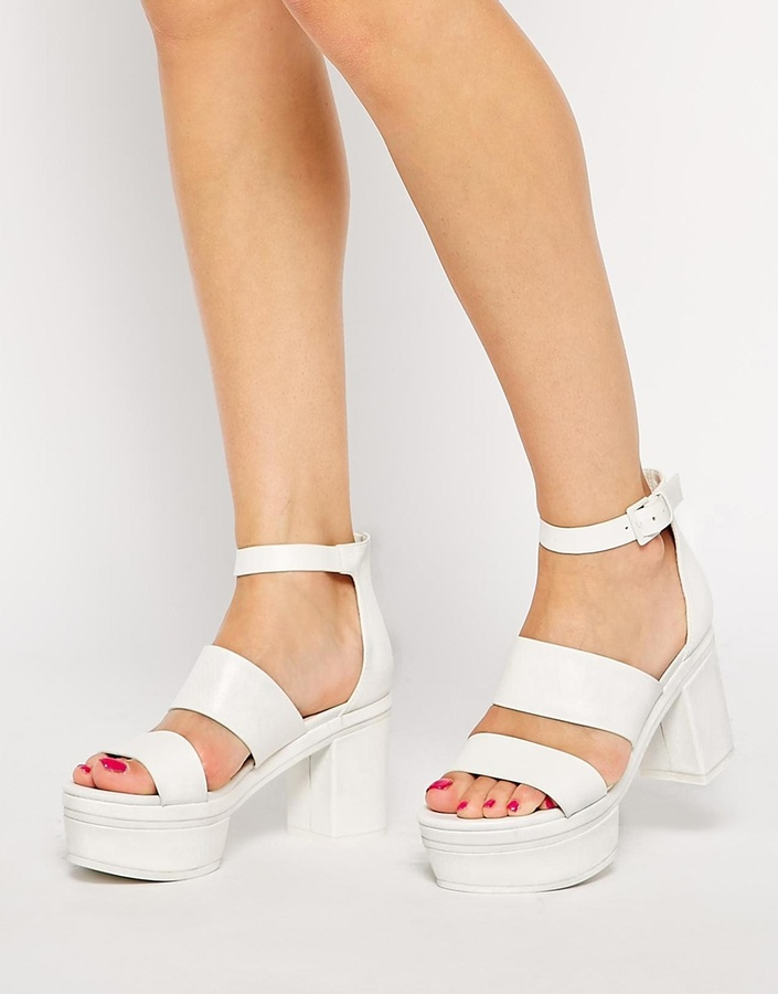 6d408bc5275e ... Asos Collection Half Truth Heeled Sandals ...