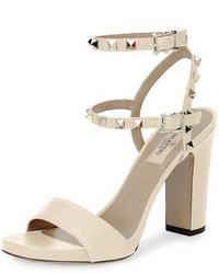 Garavani rockstud 100mm chunky heel sandal medium 3714442