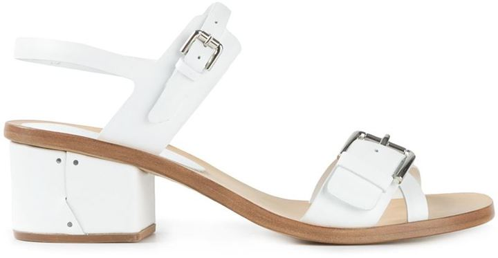 Roberto Del Carlo Low Chunky Heel Sandals | Where to buy & how to wear