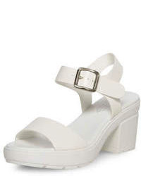 Dorothy Perkins White Chunky Heel Sandals