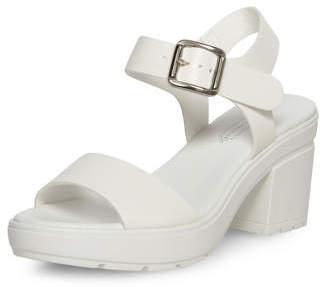 ... Dorothy Perkins White Chunky Heel Sandals