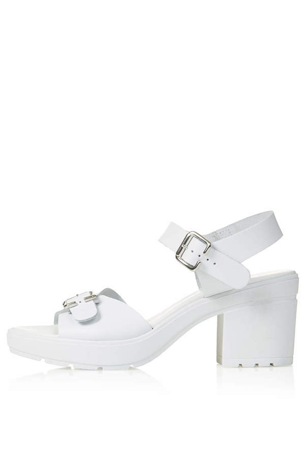 Topshop White Chunky Sandals With