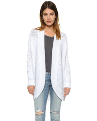 White Chunky Open Cardigan