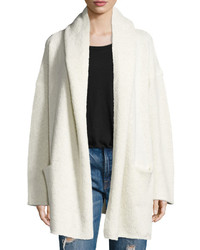 Vince Oversized Open Front Hooded Cardigan