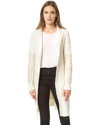 Prabal Gurung Oversized Shawl Collar Chunk Knit Cardigan