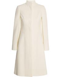 Alexander McQueen Crepe Coat White