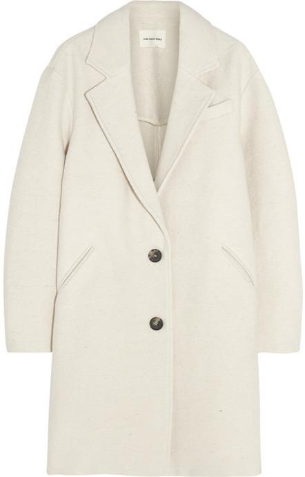 Etoile Isabel Marant Dante Oversized Woven Coat Toile Isabel