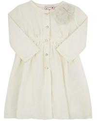 Lanvin Faille Pleated Coat White Size 6