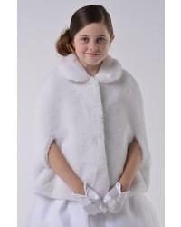 Us Angels Girls Communion Faux Fur Cape