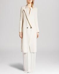 Halston Heritage Coat Tweed Cutaway Front