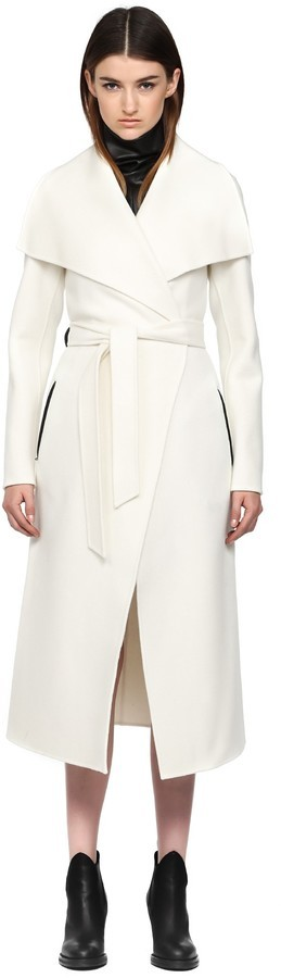 Mackage Mai F5 Off White Long Doubleface Wool Coat | Where to buy ...