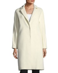 Herno Notched Collar Button Front Wool Long Car Coat
