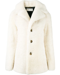 Shearling pea coat medium 3778403