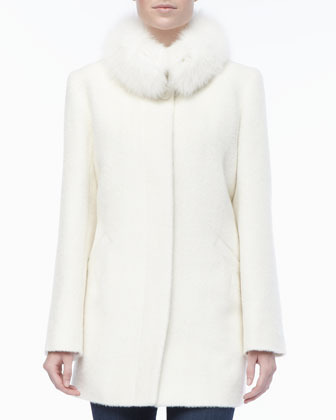 Sofia Cashmere Alpacawool Fur Collar Coat | Where to buy &amp how to wear