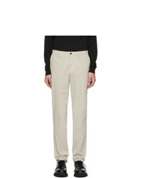 Z Zegna Off White Corduroy Long Sport Trousers