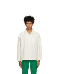 White Corduroy Long Sleeve Shirt