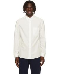 Brunello Cucinelli White Corduroy Loose Fit Shirt