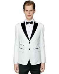 London cotton blend tuxedo jacket medium 3733834