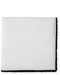 Neiman Marcus Cotton Pique Pocket Square