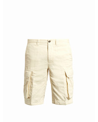 Incotex Cargo Pocket Cotton And Linen Blend Shorts