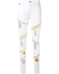 Philipp Plein Chain Detail Skinny Jeans