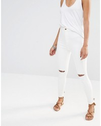 Missguided Vice High Waisted Slash Knee Skinny Jean